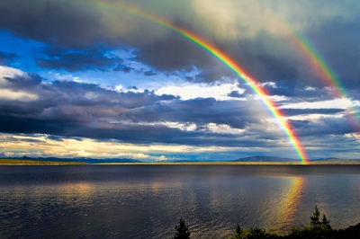 Rainbow Across Yellowstone Lake ©David Grimes