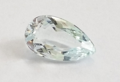 Faceted Goshenite, 1.88 ct, Brazil ©WikiC
